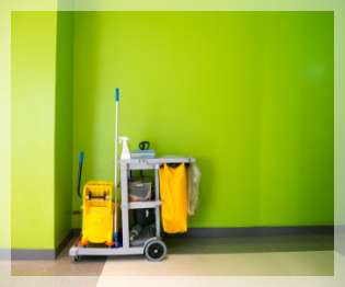 Commercial Cleaning Company Near West Bloomfield MI | Mr Kleen Maintenance - cleaning-cart